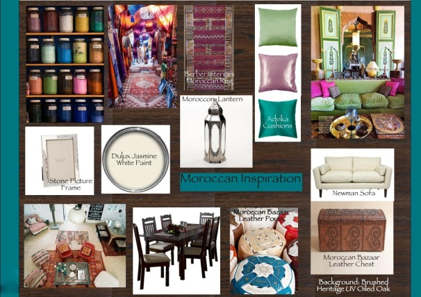 Diploma Assignment: Moroccan Inspiration Board