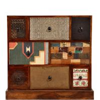 Masala Chest of Draws - http://www.butlers-online.co.uk/MASALA-Unique-patchwork-style-chest-of-drawers-with-8-drawers/10194314,en,pd.html?start=38&cgid=Furniture