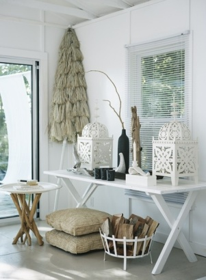 Wood in a basket - http://houseandhome.com/design/photo-gallery-white-cottages?page=12