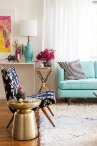 Mix of bright colours - http://www.designlovefest.com/2013/03/my-new-living-room/