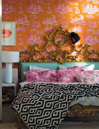 Toile Wallpaper - http://poppytalk.blogspot.co.uk/2012/02/weekend-project-toile-inspired-walls.html