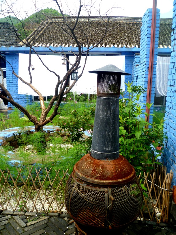 The hostel's cute gardens