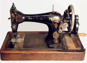 Singer sewing machine - http://chemistry.about.com/b/2009/04/15/sewing-machines-believed-to-contain-red-mercury.htm