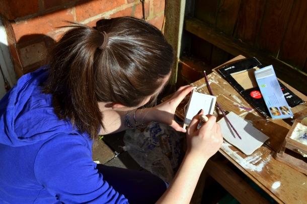 Ali paints her jewellery box