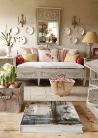 Beautiful soft pink accents - http://www.kateforman.co.uk/shop/inspirations/