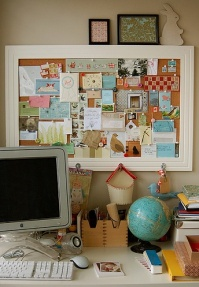 Framed pin board - http://taniawillis.tumblr.com/page/14#361393575