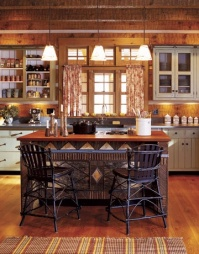 Log cabin kitchen - http://www.countryliving.com/homes/house-tours/Cabin-1105?src=nl&mag=clg&list=nl_ccr_dkd_non_090711_cabin&kw=ist#slide-1