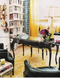 Sophisticated desk - http://honeywerehome.blogspot.co.uk/2010/07/office-inspiration-sunshine.html?m=1