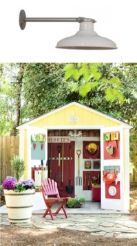 Bright colours add character - http://www.blog.barnlightelectric.com/yard-lights-for-outdoor-and-garden-areas/