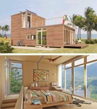 Wooden cladding & roof deck - http://pinterest.com/pin/517914025868172736/